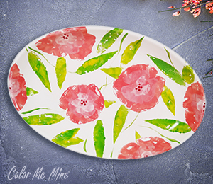 Pittsford Floral Paper Stamping