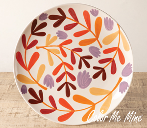 Pittsford Fall Floral Charger