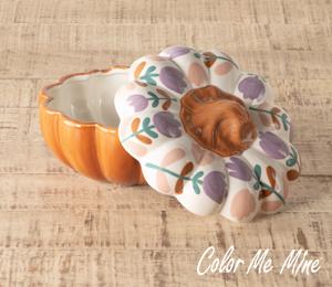 Pittsford Floral Pumpkin Box