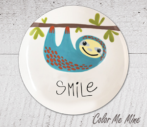 Pittsford Sloth Smile Plate